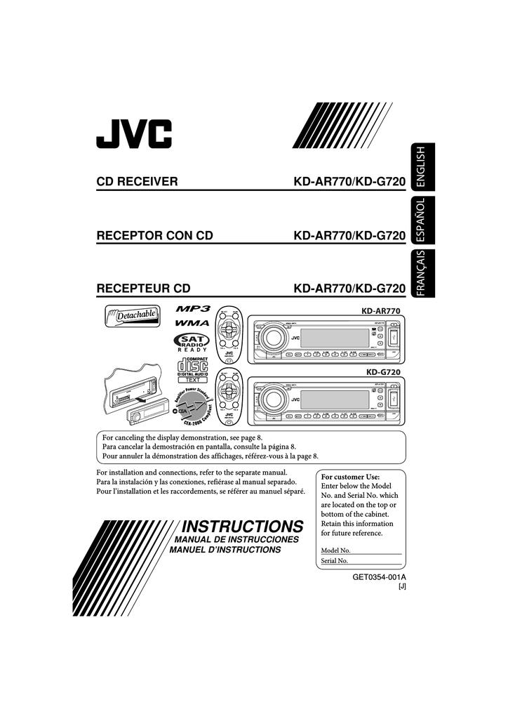 jvc kd ar770 kd g720 user s manual manualzz com rh manualzz com JVC KD- R210 JVC KD- AVX77