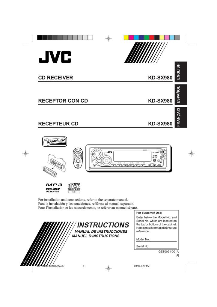 JVC KD-SX980 Instruction Manual   manualzz.com on