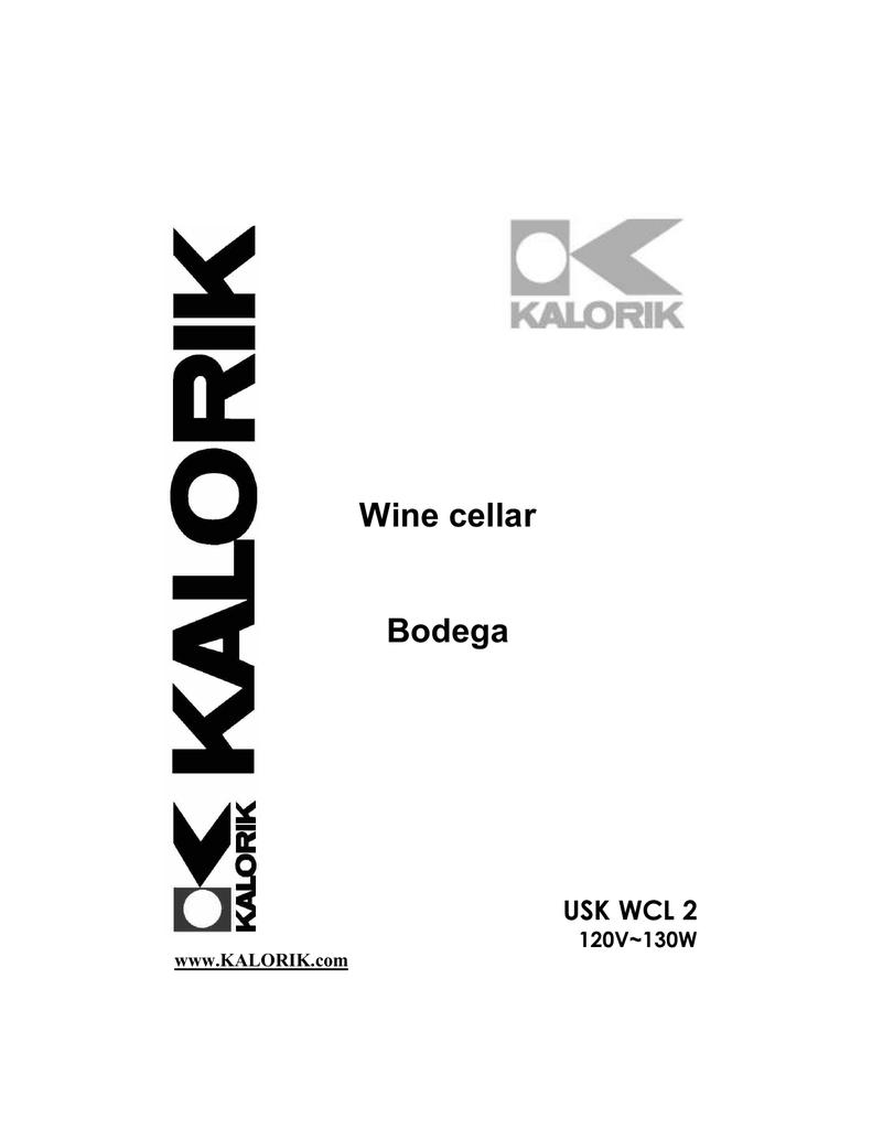 Kalorik USK WCL 2 User's Manual | manualzz.com on