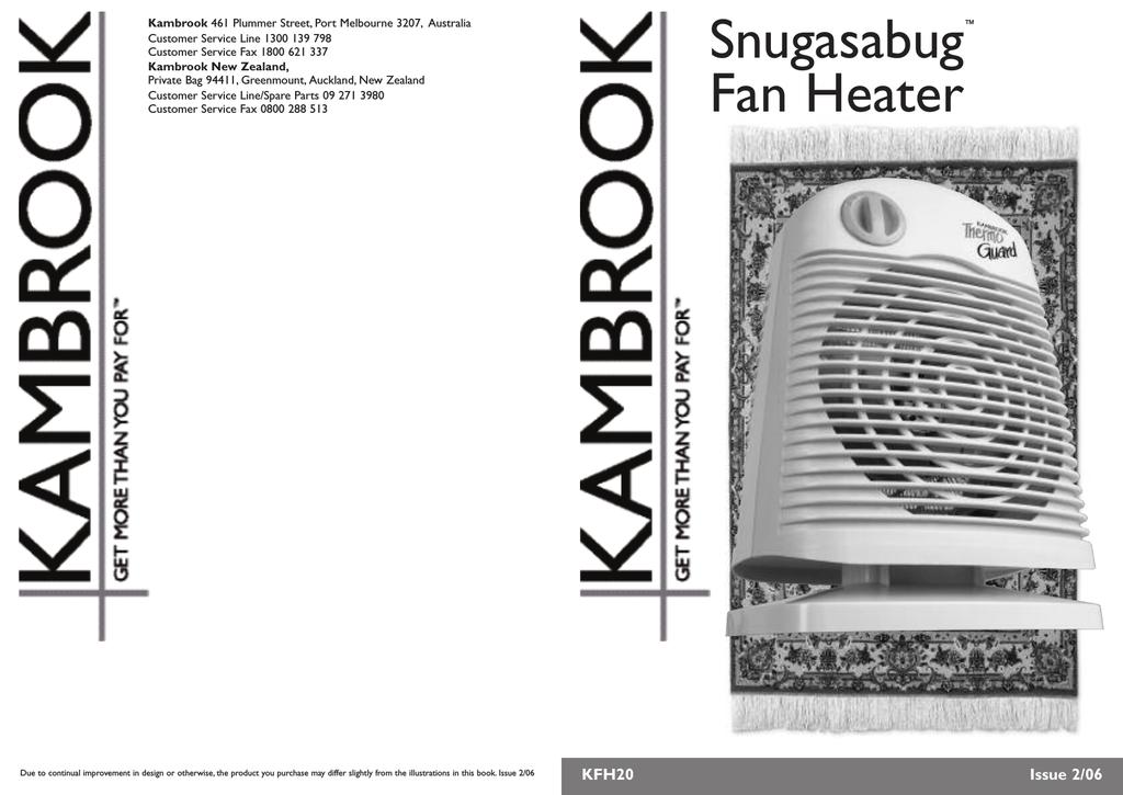 kambrook kfh20 user s manual manualzz com rh manualzz com