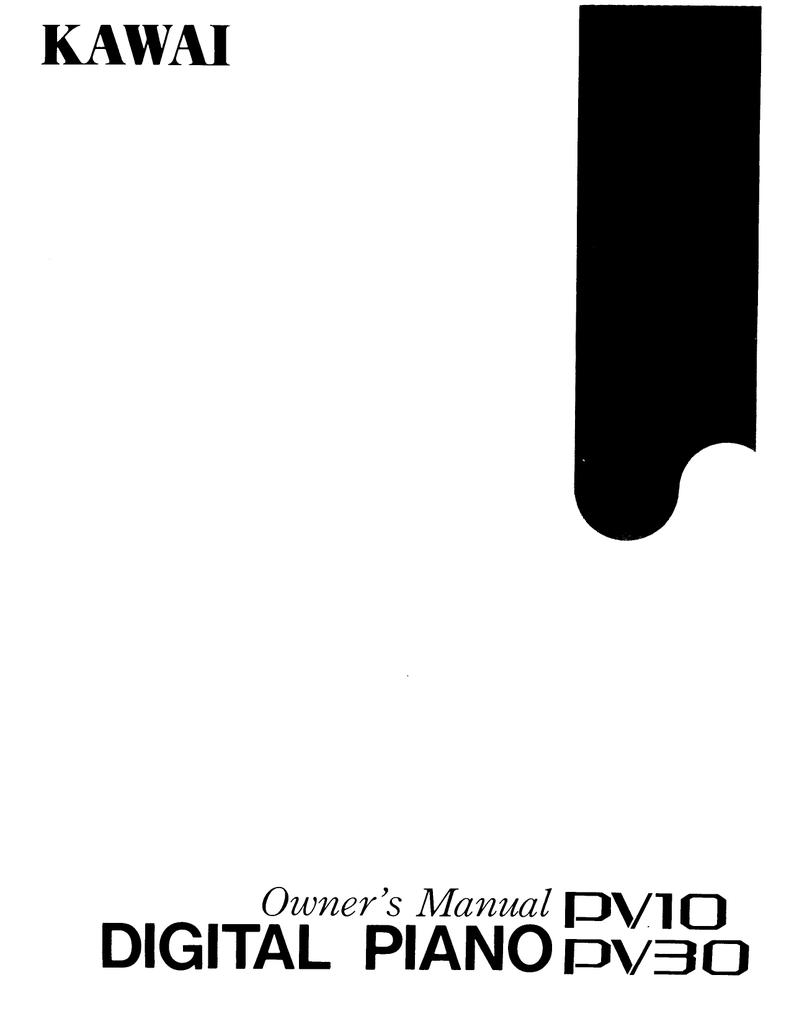 Kawai Pv10 User S Manual Manualzz Com