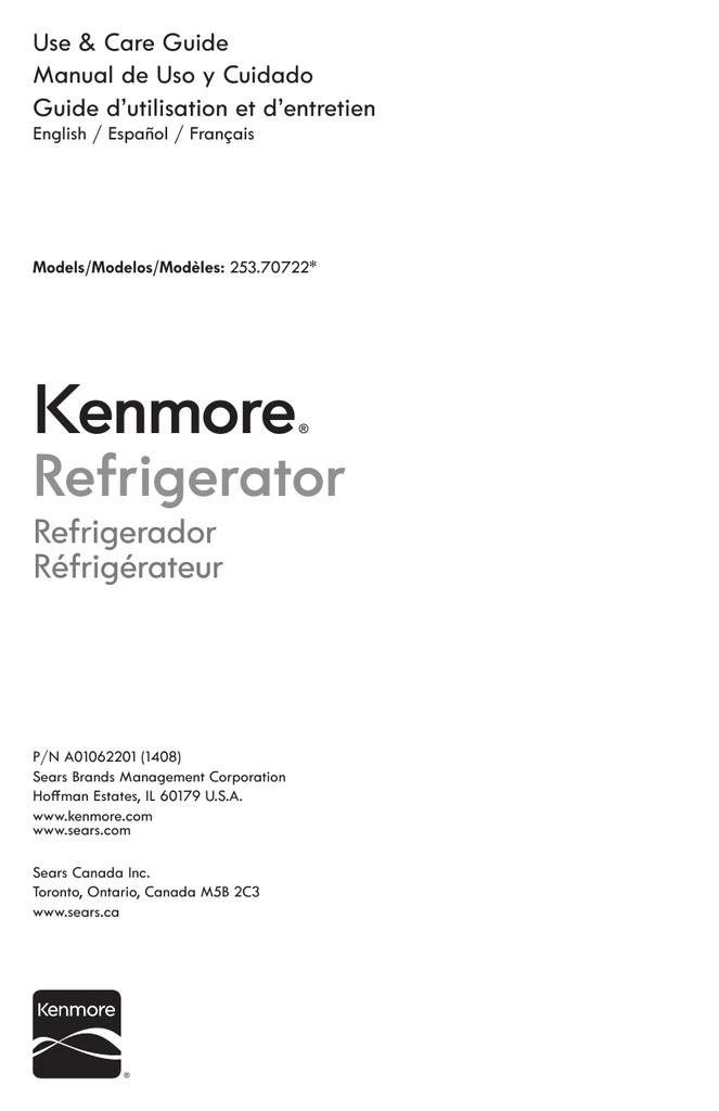 Kenmore 16.7 cu. ft. Freezerless Refrigerator - White Owner\'s Manual ...