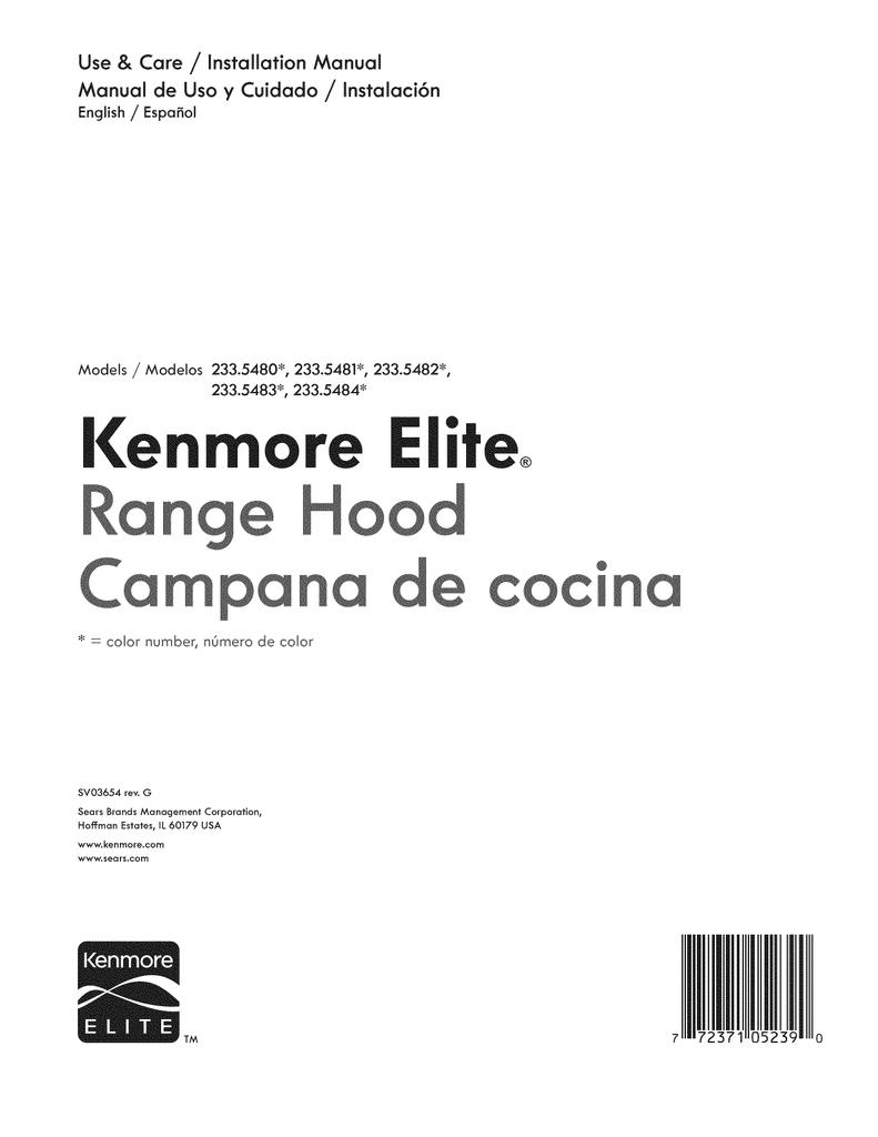 Kenmore Elite Elite 30 Range Hood Guia De Instalacion Manualzz