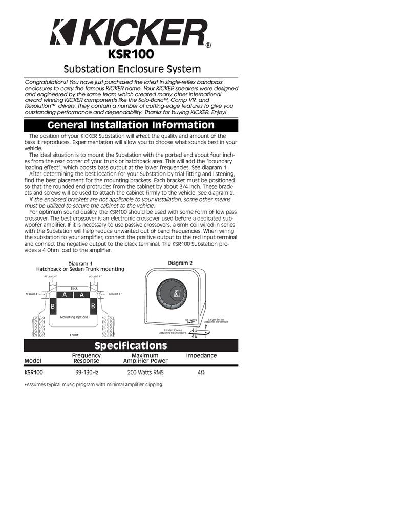 Kicker Wiring Diagram On Kicker Speaker Diagram