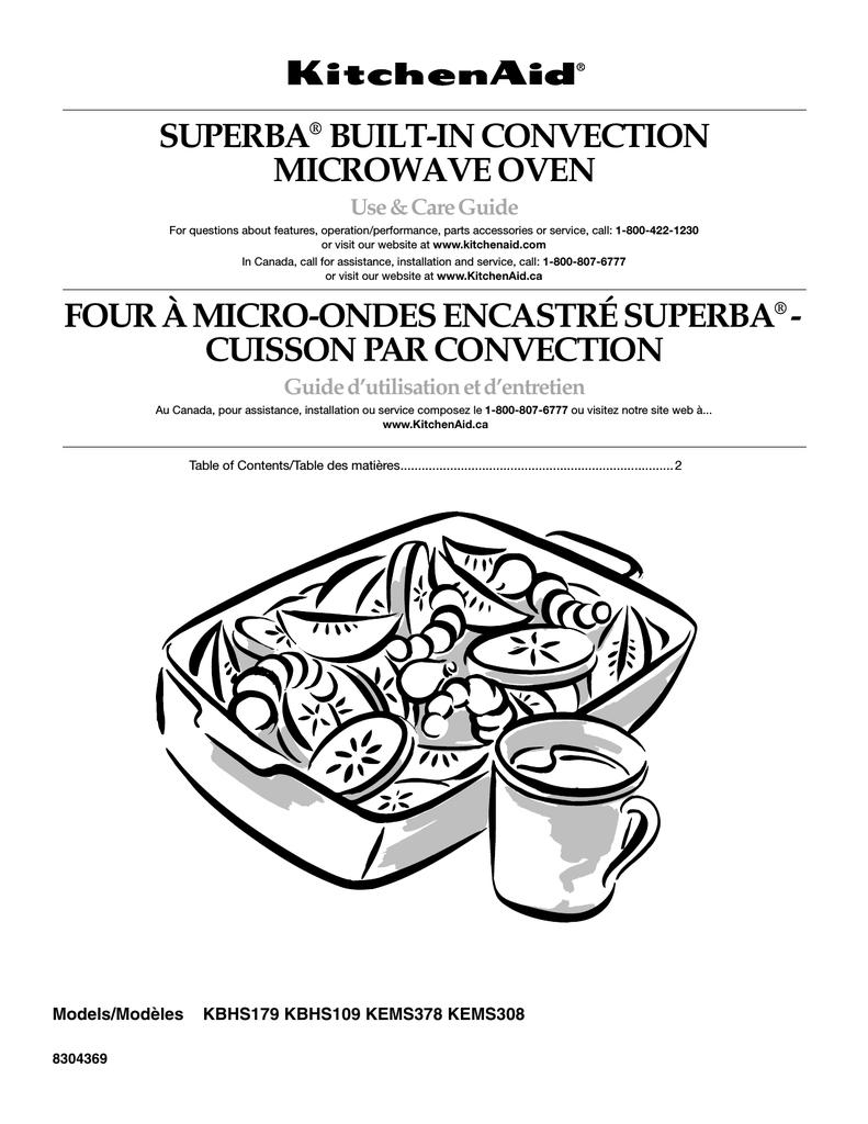 Kitchenaid Kbhs109 User Manual Manualzz