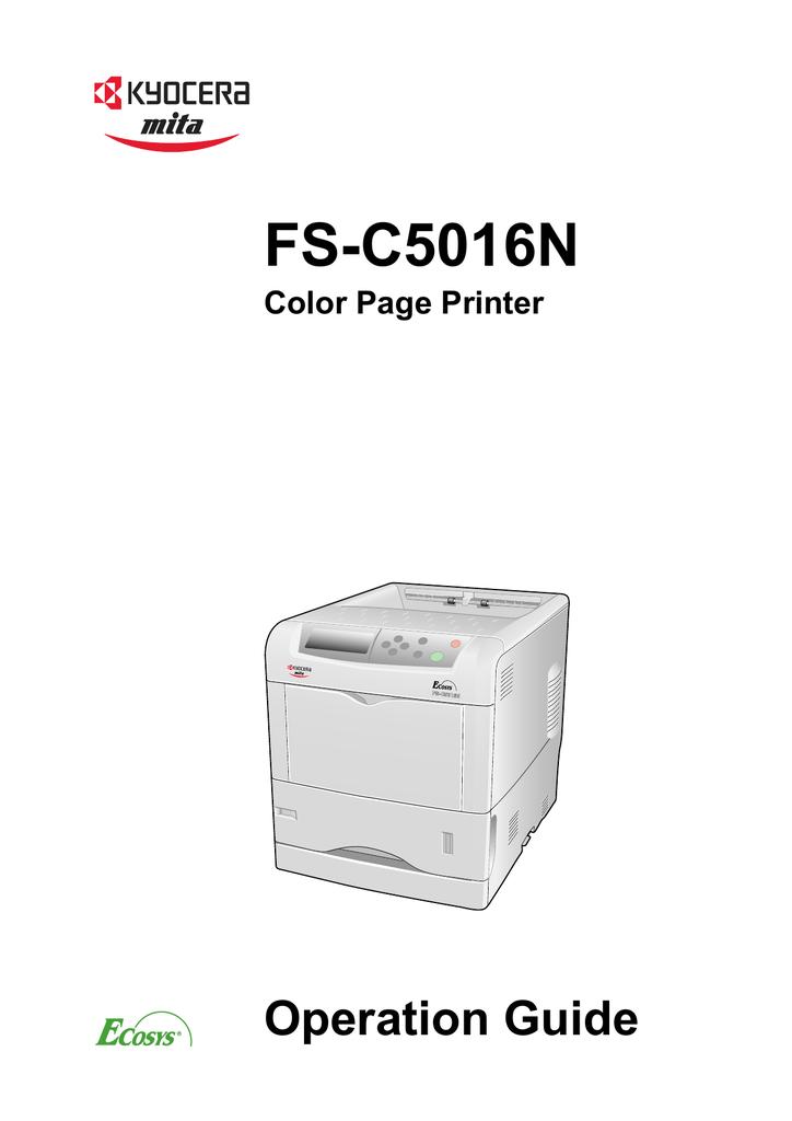 kyocera mita ecosys fs c5016n color laser printer service repair manual parts list
