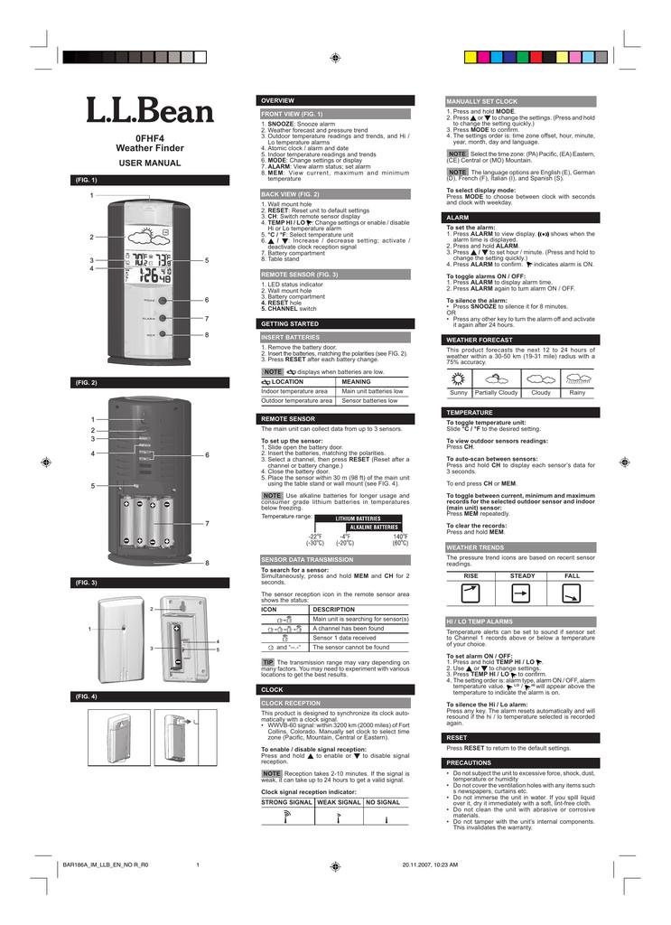 L L Bean 0fhf4 User Manual Manualzz