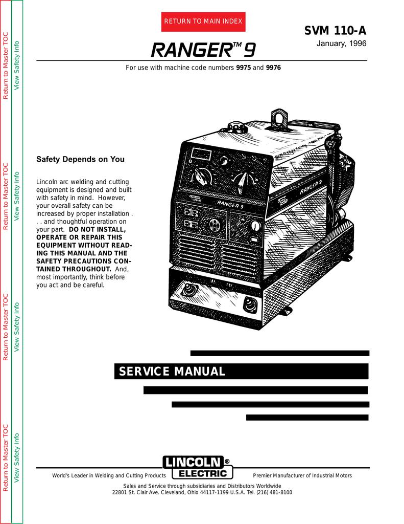 Lincoln Electric 110-A User's Manual | manualzz com