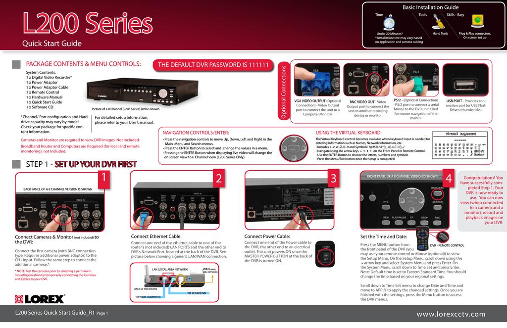 LOREX Technology L200 SERIES User's Manual   manualzz com