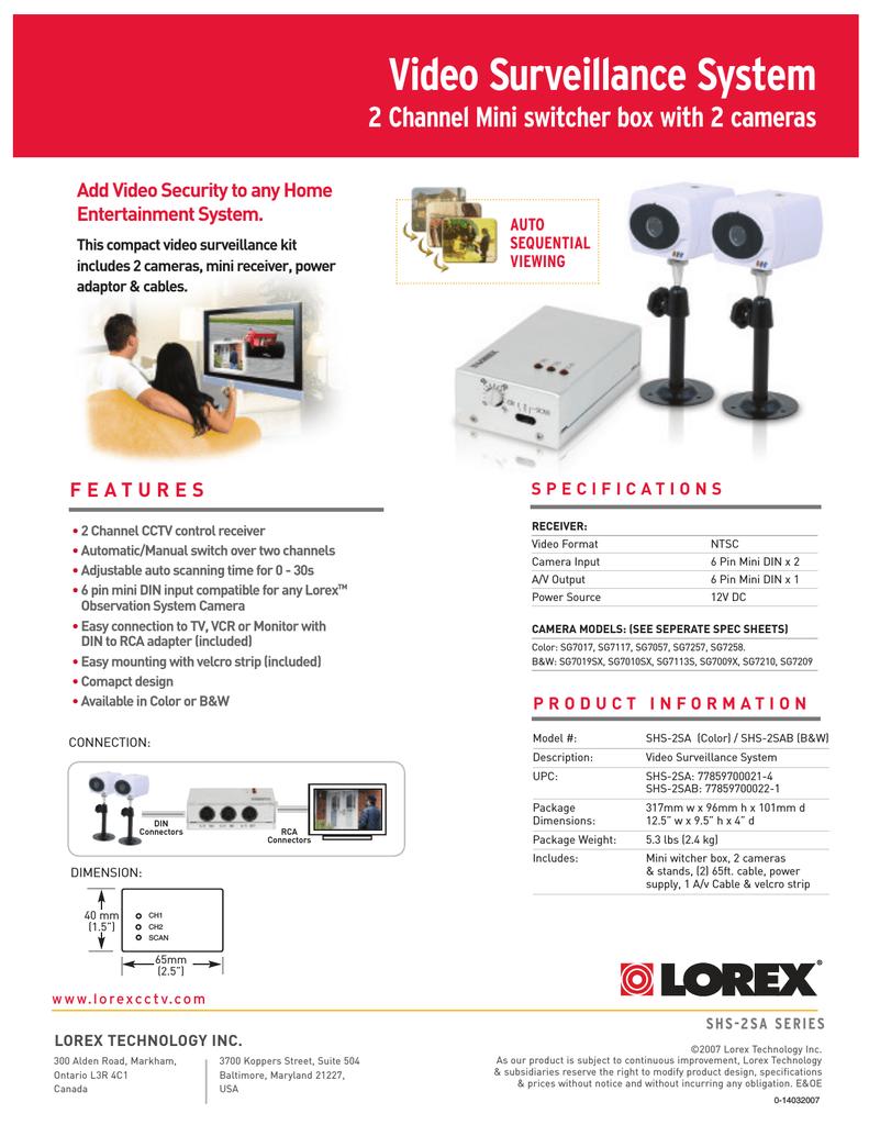 LOREX Technology SHS-2SAB User's Manual   manualzz com