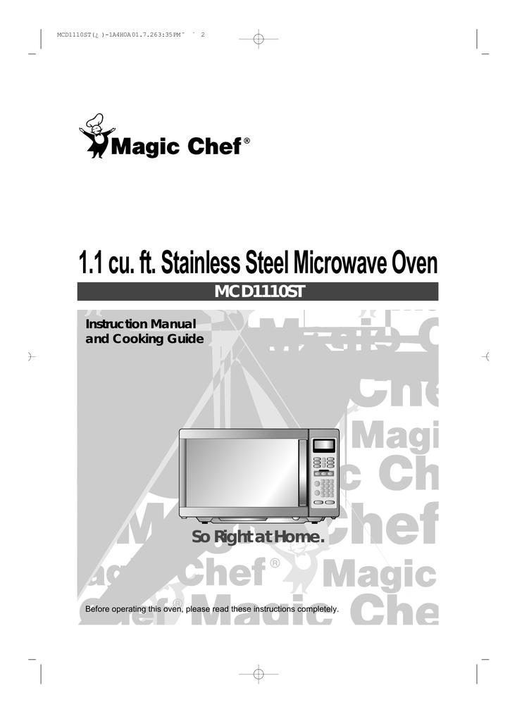 Magic Chef MCD1110ST User's Manual | manualzz com