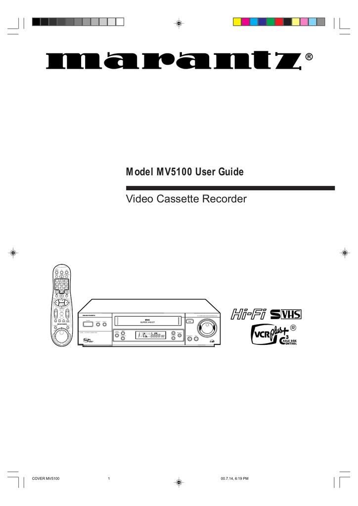 Marantz MV5100 User's Manual | manualzz com