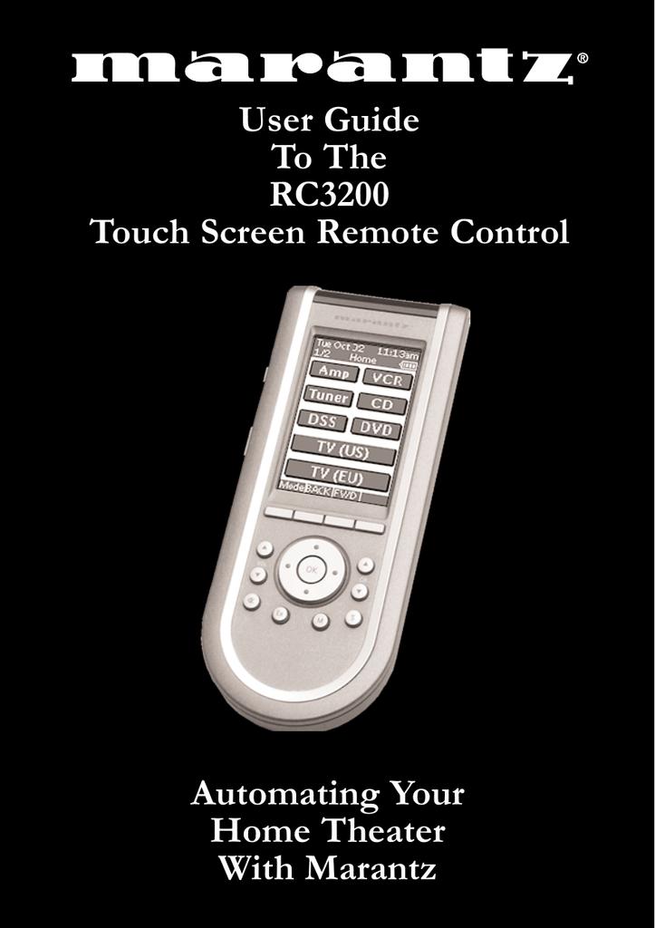 Marantz RC3200 User's Manual | manualzz com
