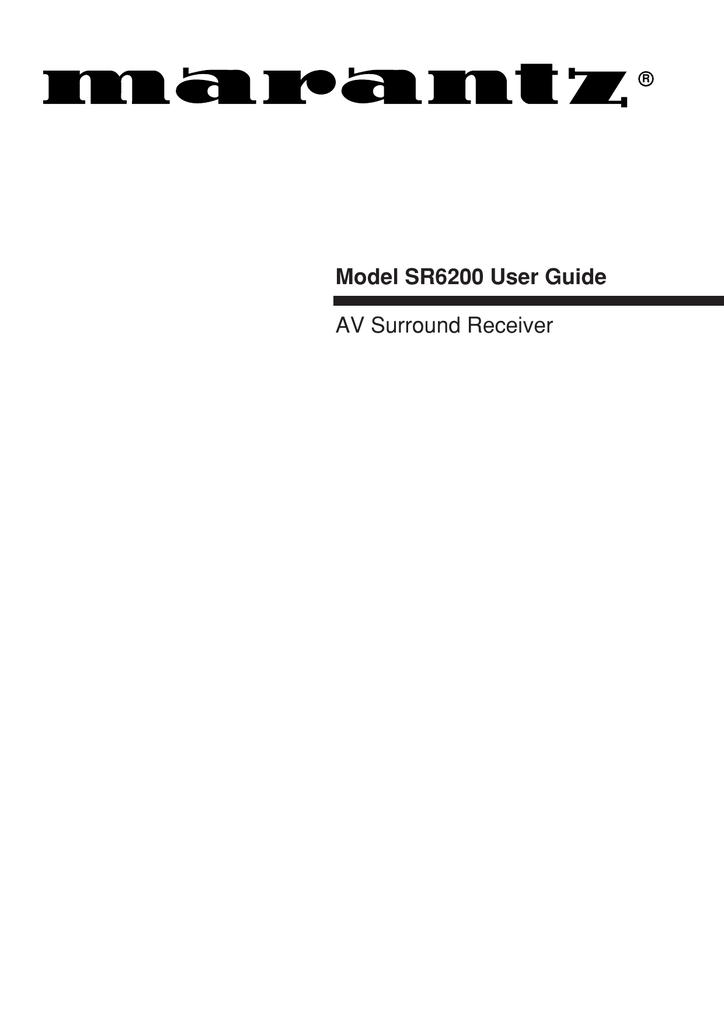 Marantz Sr6200 User Manual Manualzz