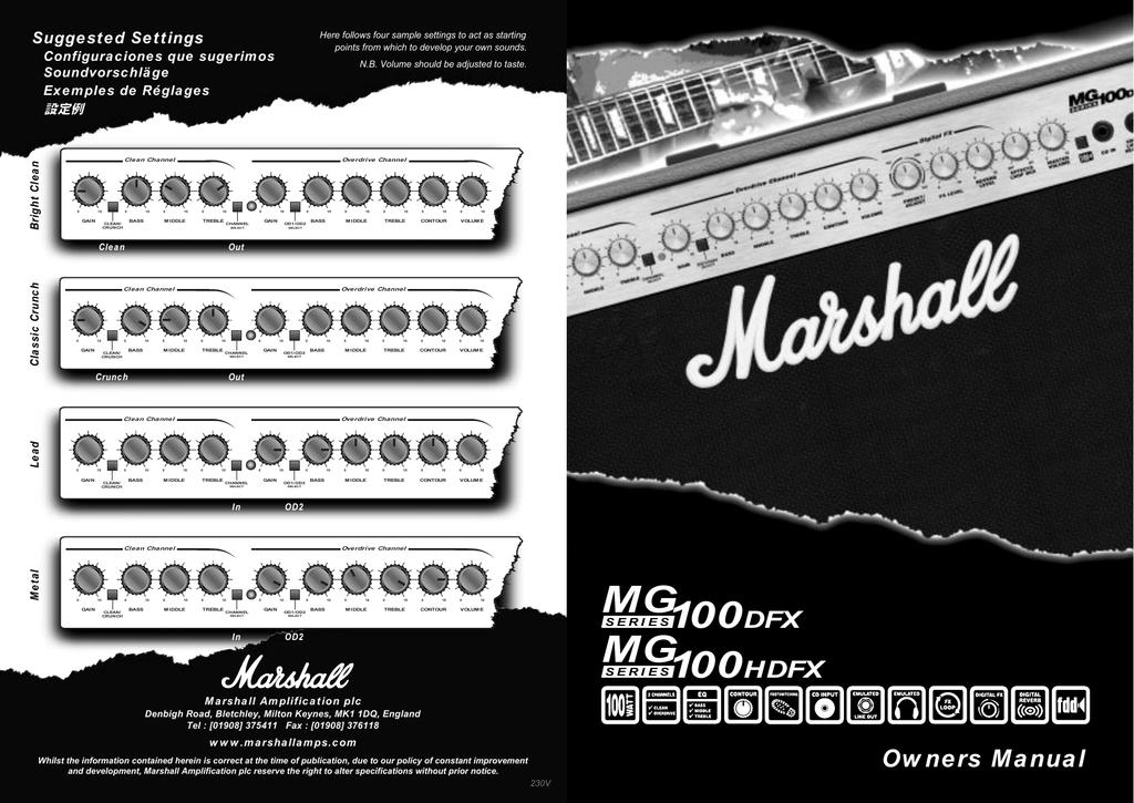 marshall amplification mg100hdfx user s manual manualzz com rh manualzz com marshall mg100hdfx owners manual marshall mg100dfx instruction manual