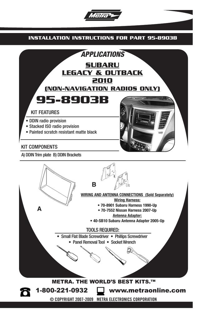 Metra Electronics 95-8903B User's Manual | manualzz com