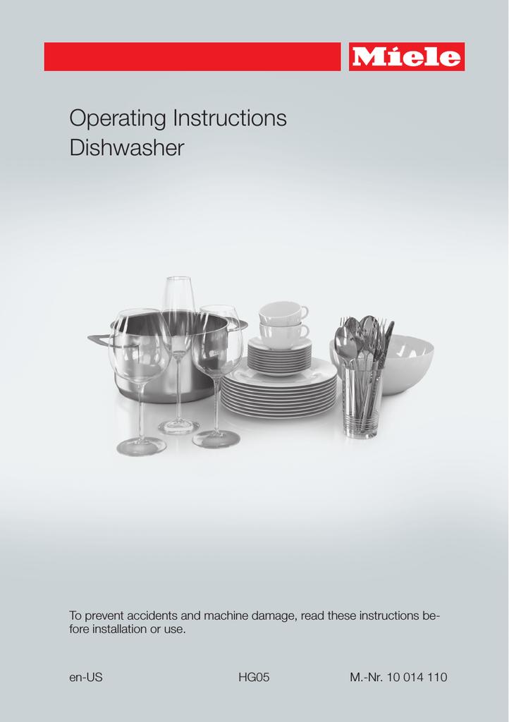 Miele G 6165 Scvi Futura Crystal Operating And Installation Instructions