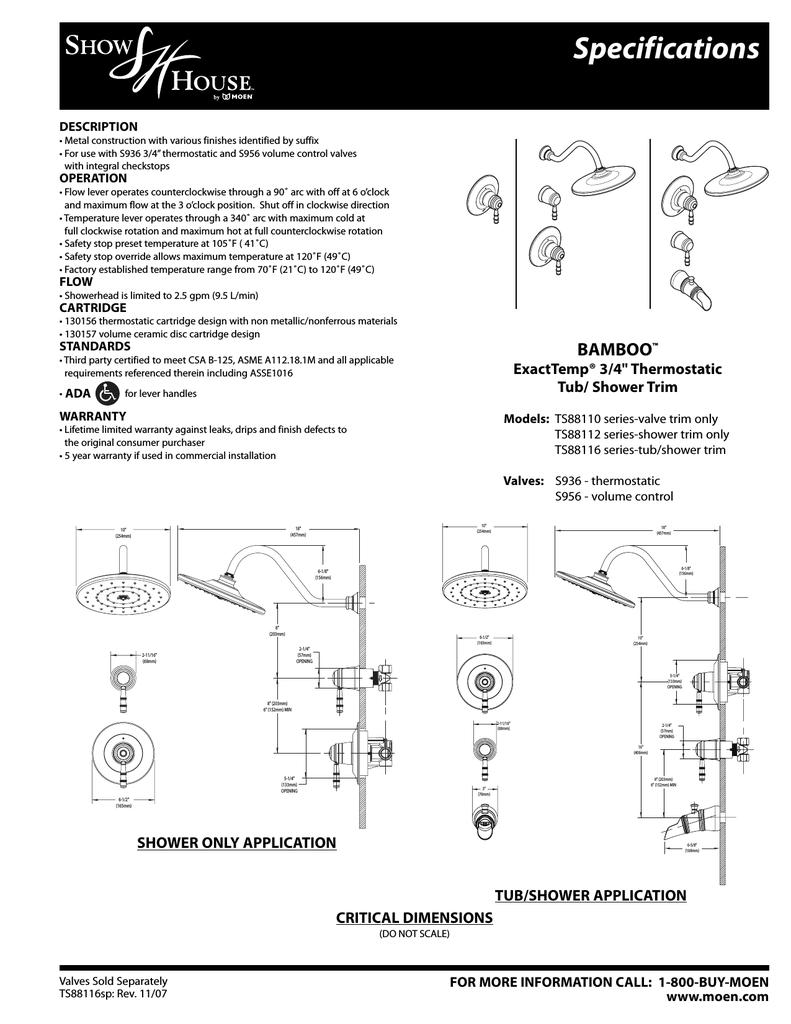 Moen Ts88110 User S Manual Manualzz Com