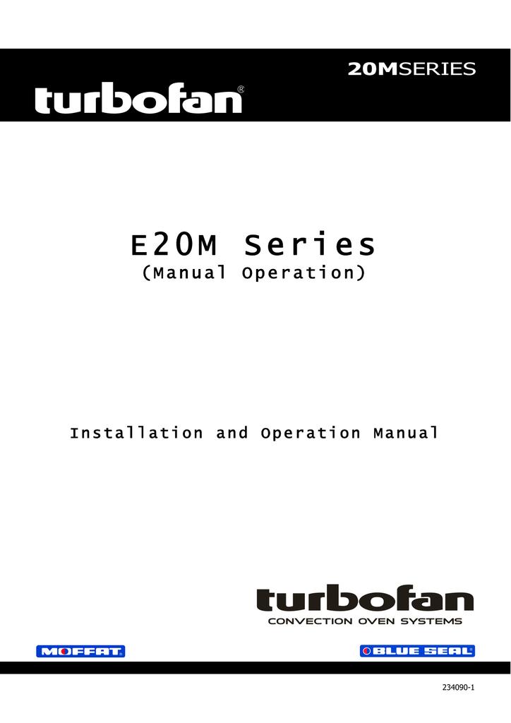 Moffat Turbofan E20m Users Manual Manualzz