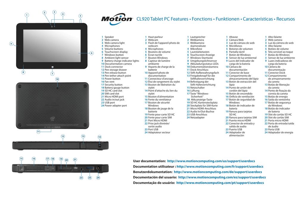 Sim Karte Für Tablet.Motion Computing Cl920 Getting Started Guide Manualzz Com