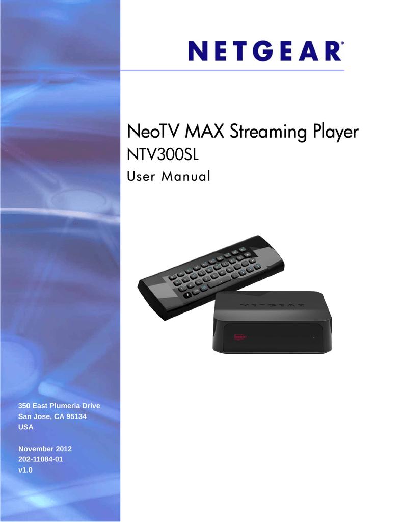 Netgear NTV300SL User Guide | manualzz com
