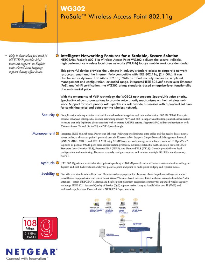 Netgear WG302v2 Data Sheet   manualzz com