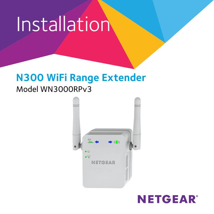 Netgear WN3000RPv3 Installation Guide | manualzz com