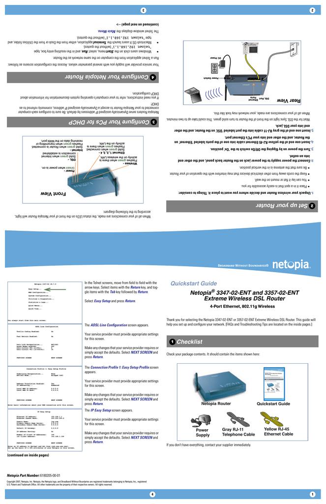 Setup wifi on the netopia 3347-02 qwest.