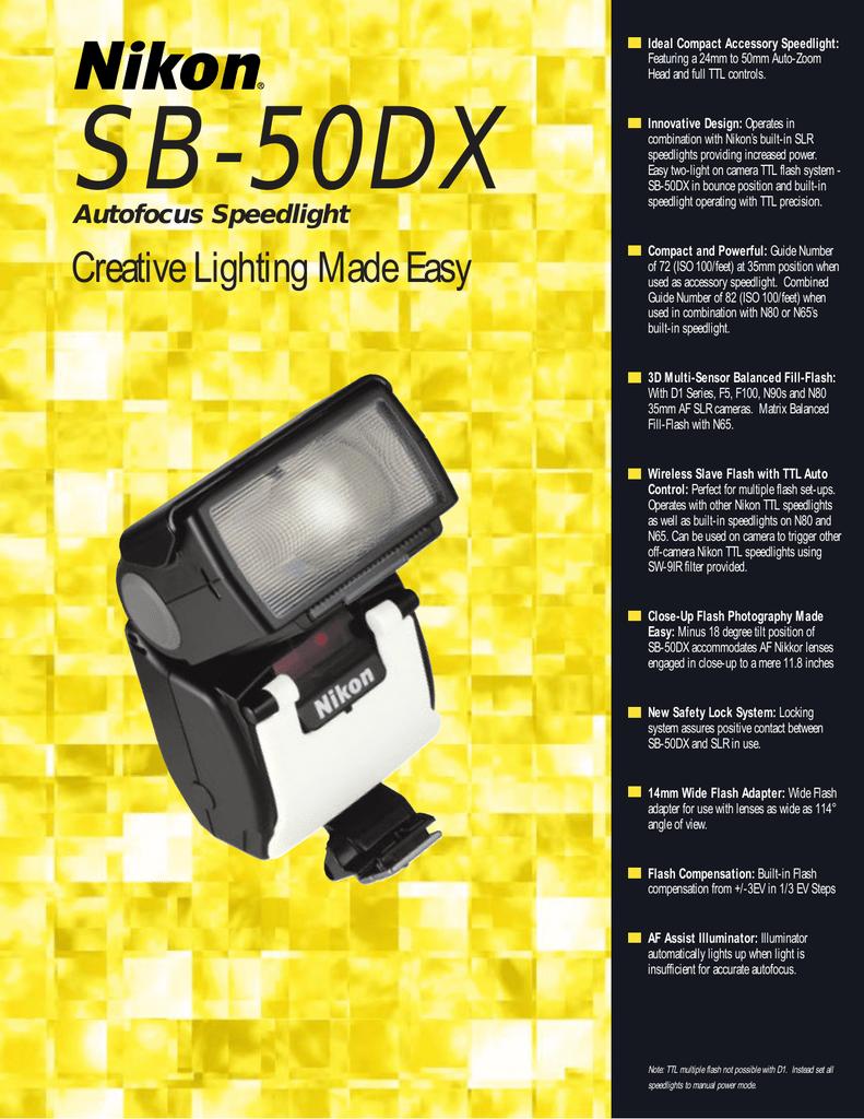 Nikon Sb 50dx User S Manual Manualzz