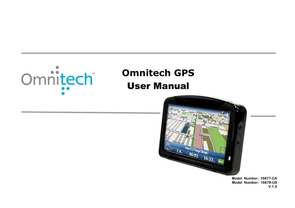 Omnitech gps 16878 manual.