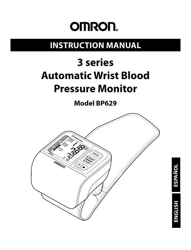 Omron Bp629 Users Manual Manualzz