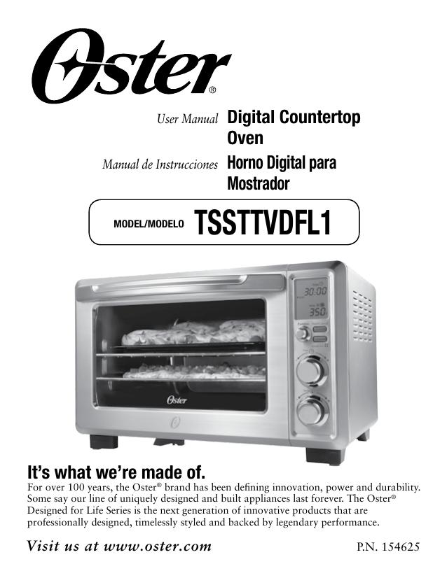 Oster Tssttvdfl1 User Manual Manualzz