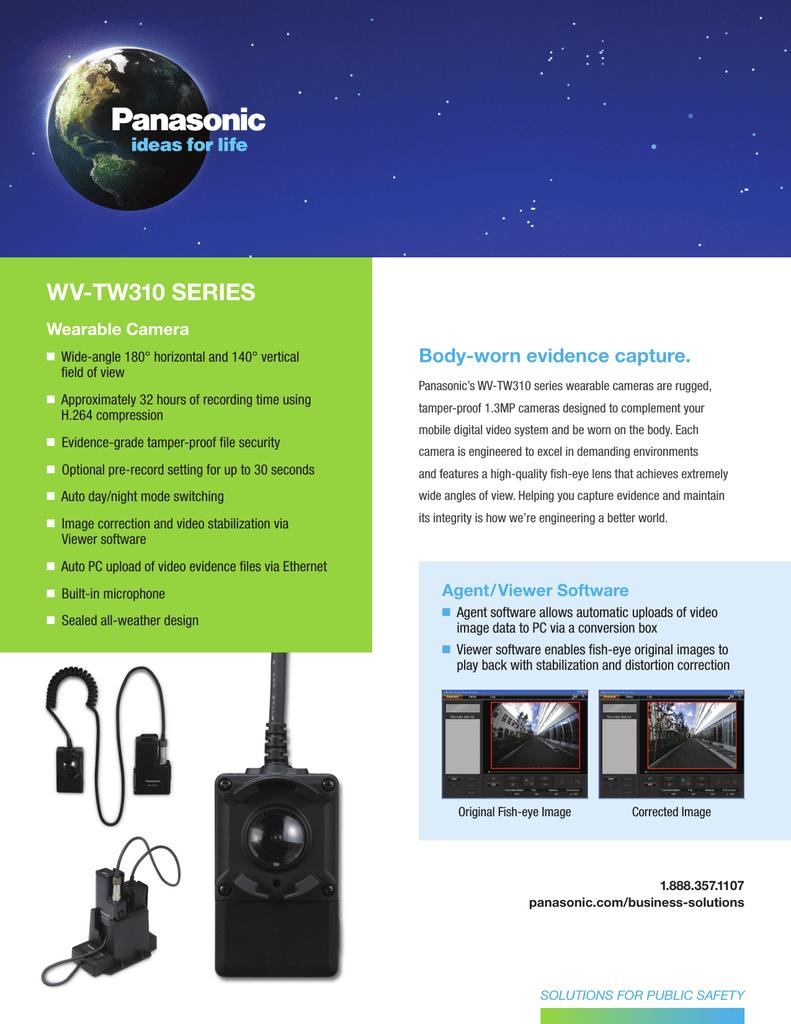 Panasonic Wearable Camera Specification Sheet | manualzz com