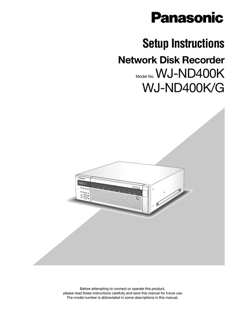 Panasonic WJ-ND400 Setup Guide | manualzz com