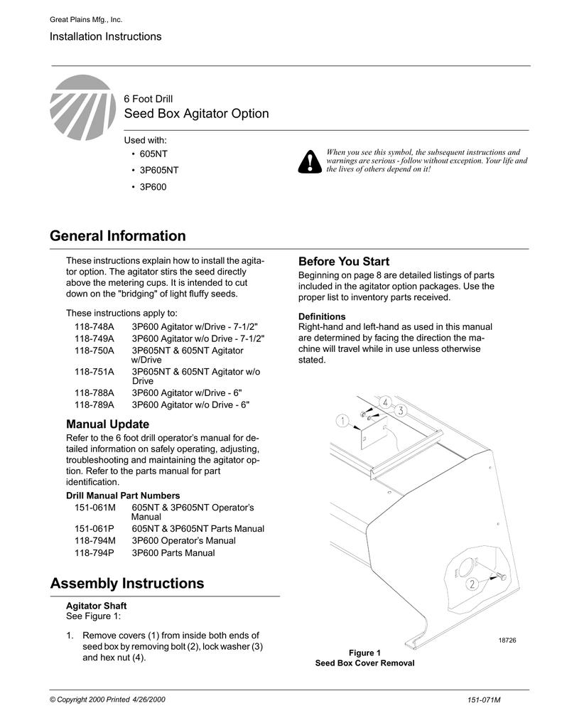 Peerless Industries Spreader 151-071M User's Manual