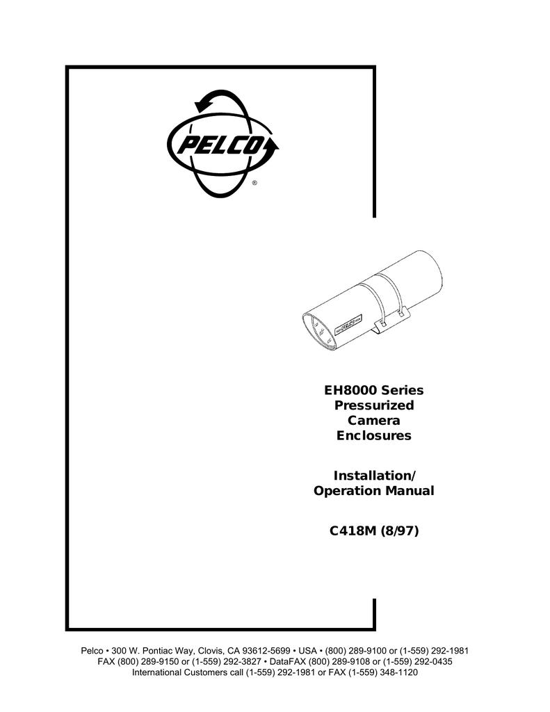 pelco eh8000 user s manual manualzz CCD Camera Wiring Diagram