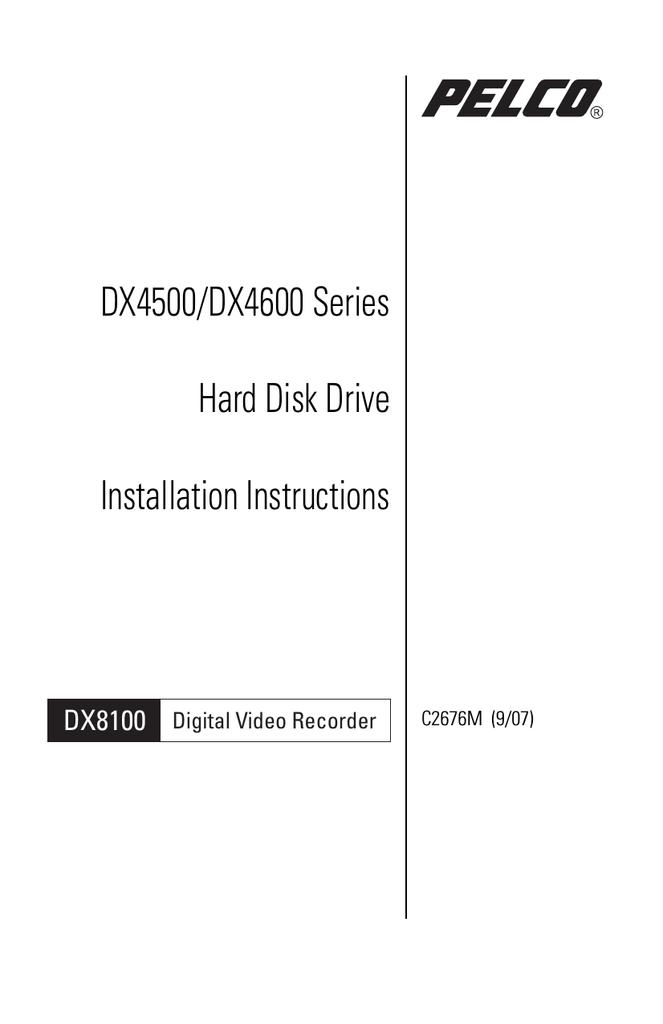 pelco dvr dx4500 user s manual rh manualzz com