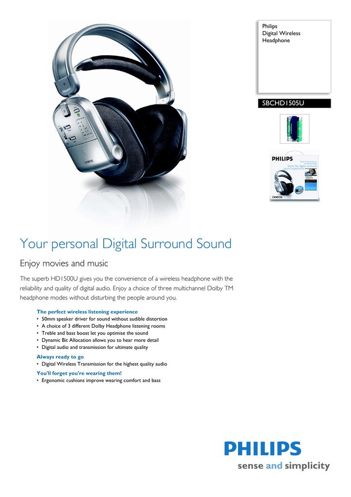 Philips SBC HD1505U User's Manual | manualzz com