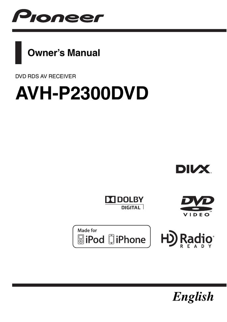 Wiring Diagram For Pioneer Avh 2300dvd