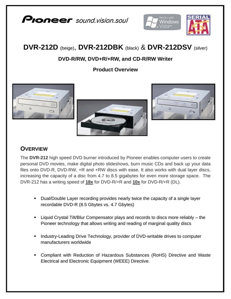 PIONEER DVD-RW DVR-212 ATA DEVICE TREIBER WINDOWS 8
