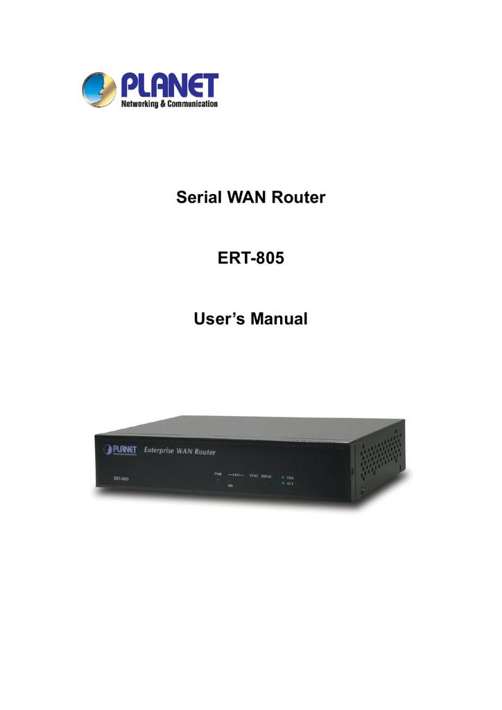 Planet Technology ERT-805 User's Manual | manualzz com