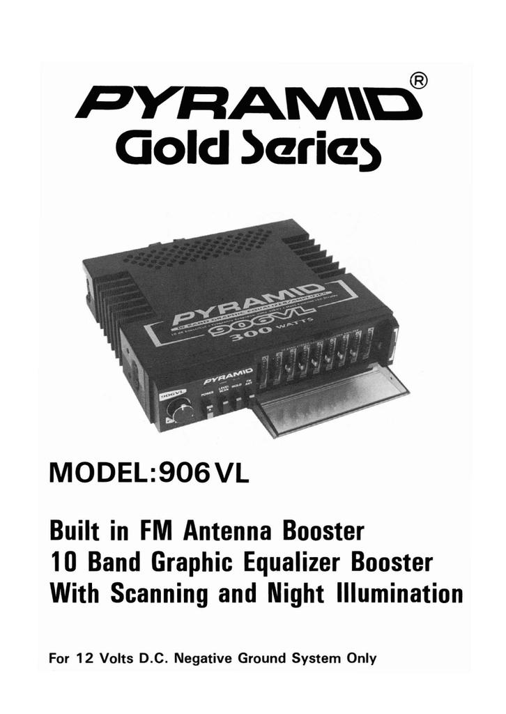 Pyramid Car Audio 906VL User's Manual | manualzz com
