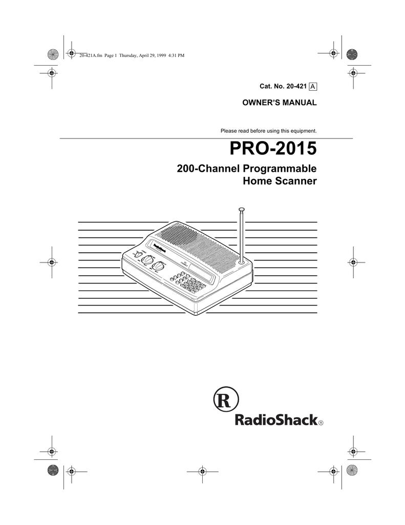 Madison : How to program a radio shack scanner pro 2015