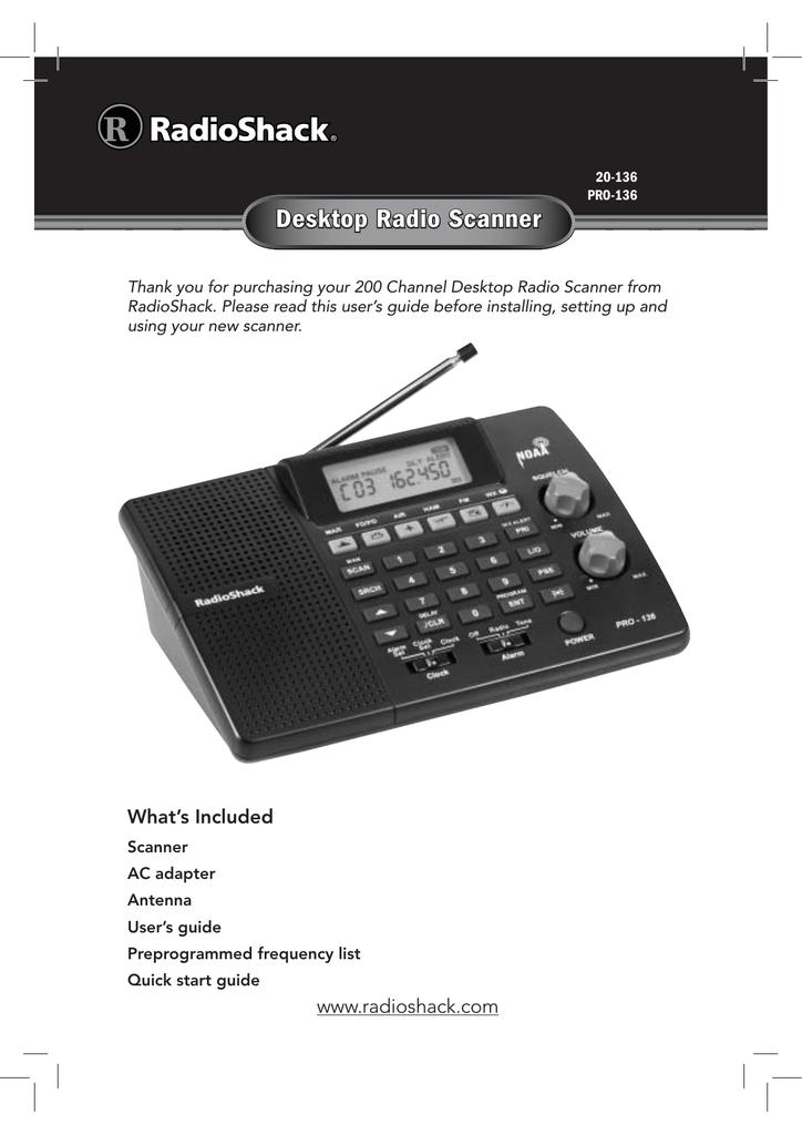 Radio Shack PRO-136 User's Manual | manualzz com