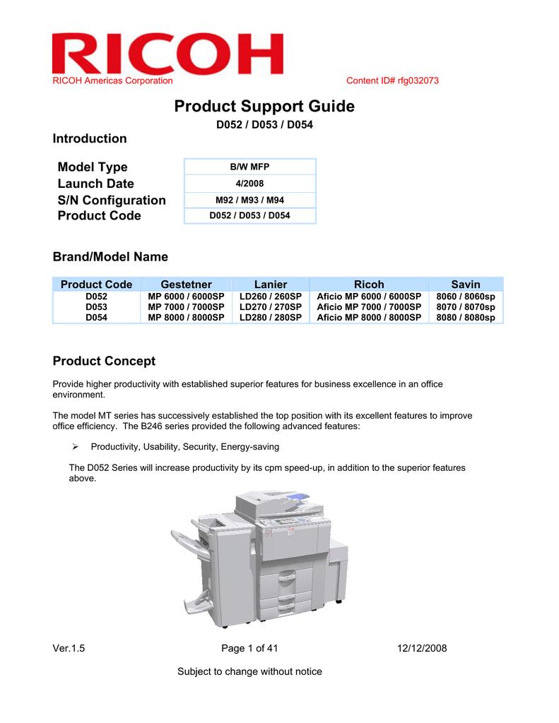 Ricoh D052 User's Manual | manualzz com