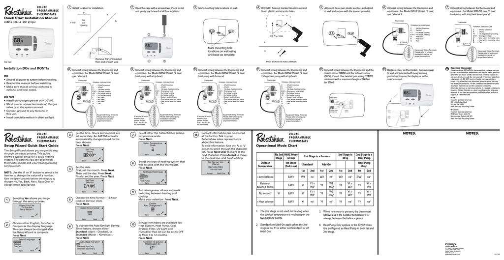 Robertshaw 9701i2 Install Sheet   manualzz.com on