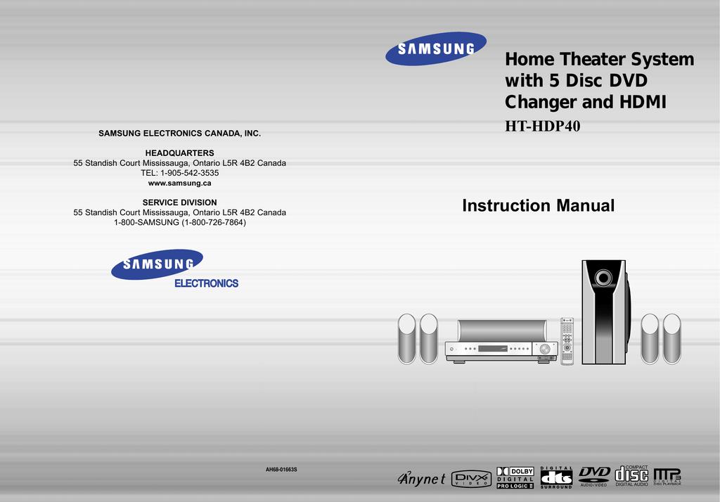 Samsung HT-HDP40 User manual | manualzz com