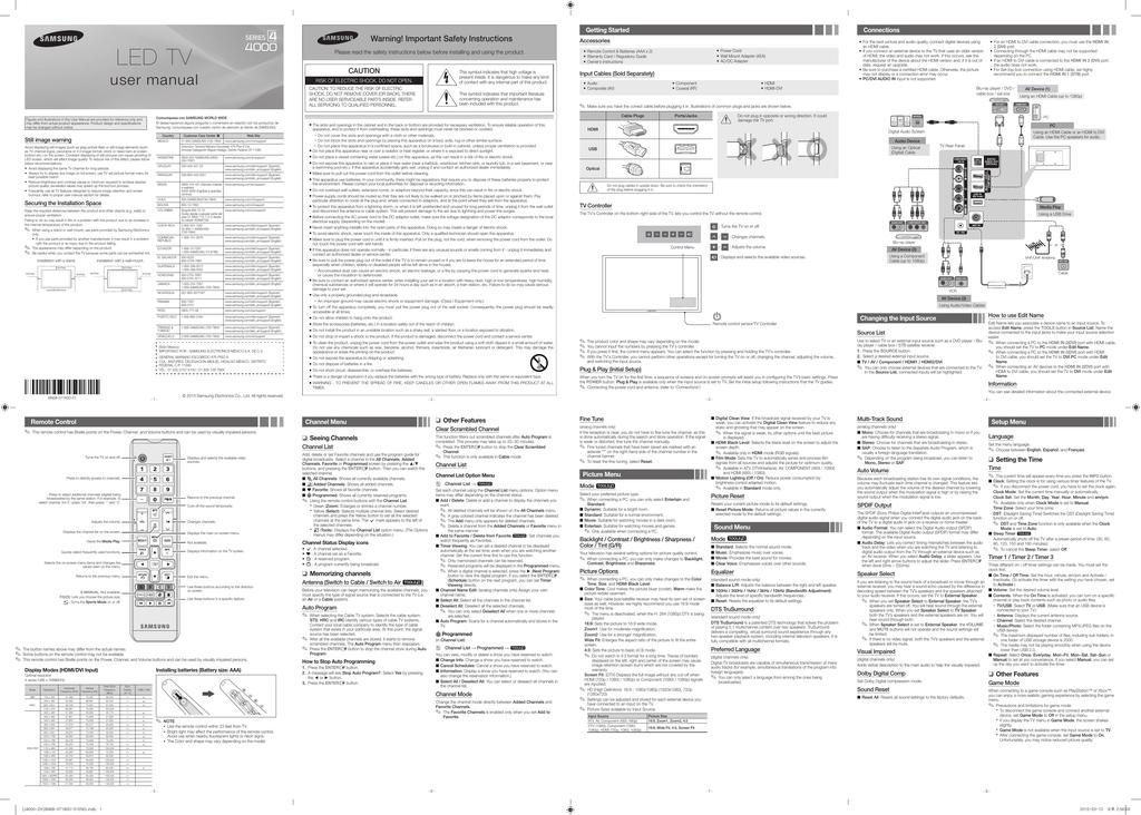 Samsung UN32J4000AFXZA User's Manual   manualzz com