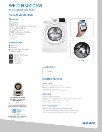 Appliances Washers alpha-ene.co.jp Samsung WF42H5000AW Energy Star ...