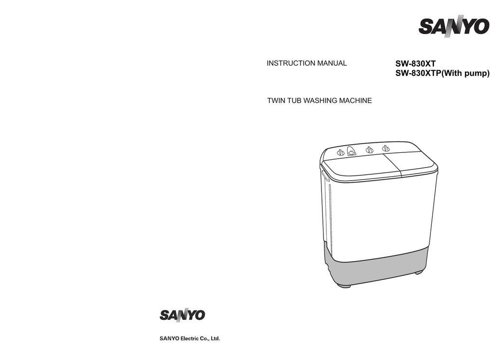 sanyo washer sw 830xt user s manual manualzz com rh manualzz com sanyo washing machine service manual sanyo washing machine instruction manual